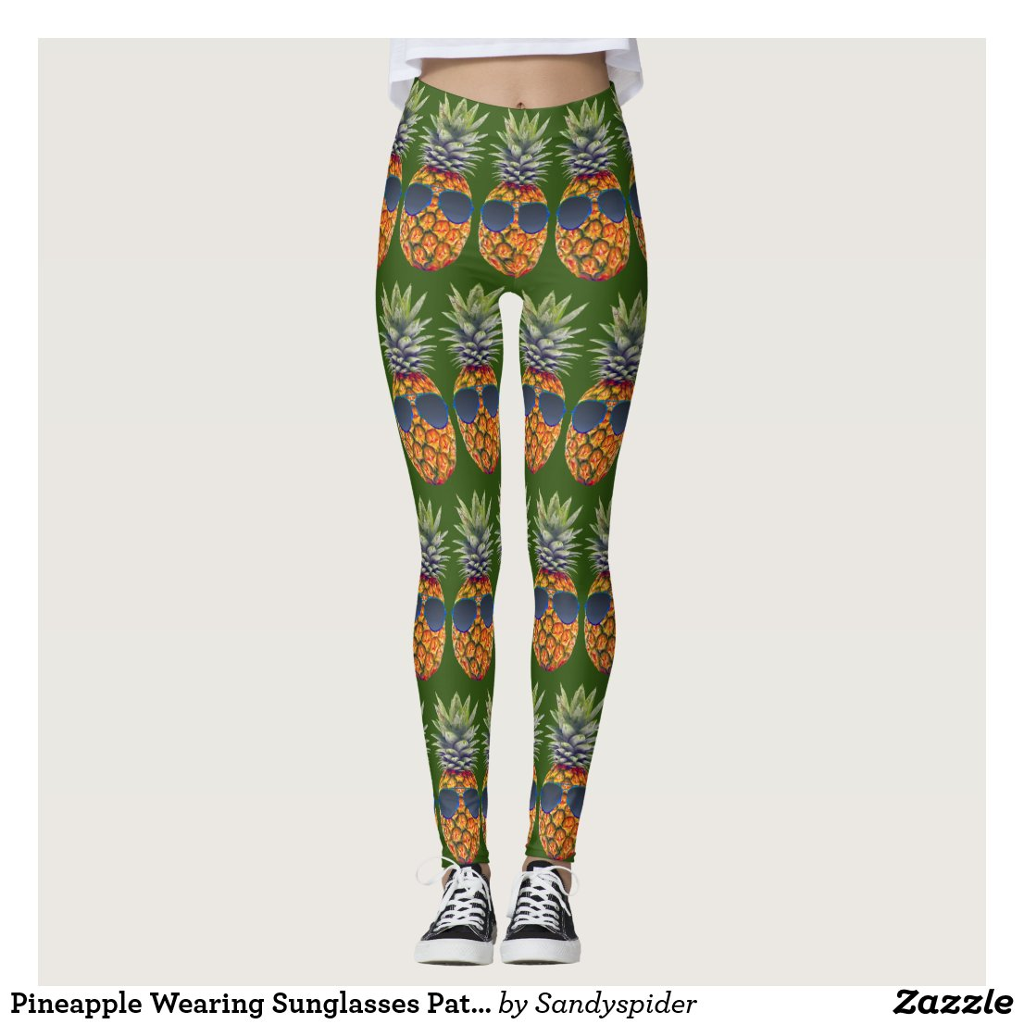 Pineapple Wearing Sunglasses Pattern Foodies, ZSSG Leggings