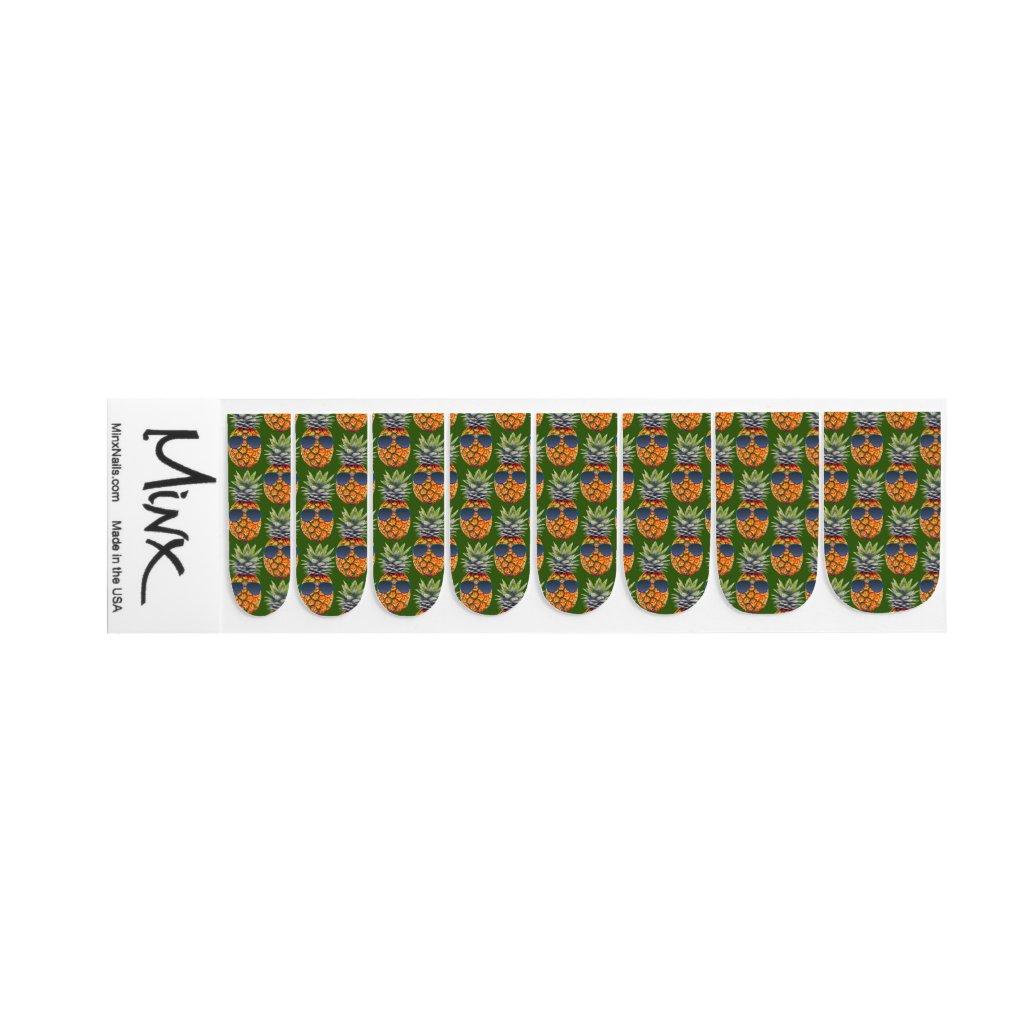 Pineapple Wearing Sunglasses Pattern Foodies, ZSSG Minx Nail Art