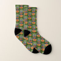 Pineapple Wearing Sunglasses Pattern Foodies, ZSSG Socks