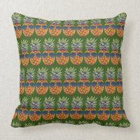 Pineapple Wearing Sunglasses Pattern Foodies, ZSSG Throw Pillow