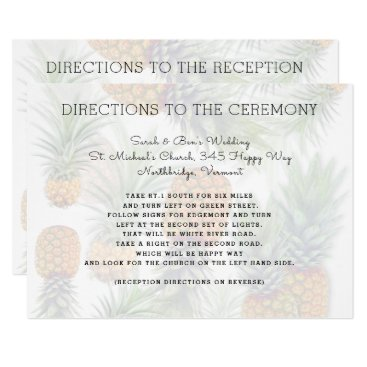 Pineapple Wedding Direction Cards Double Sided