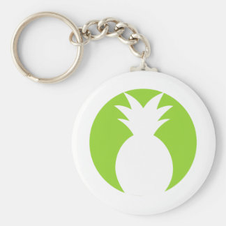 Pineapple Welcome Graphic Keychain