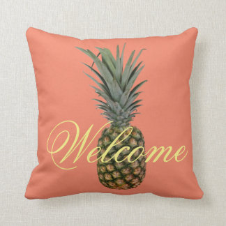 Pineapple Welcome Throw Pillow