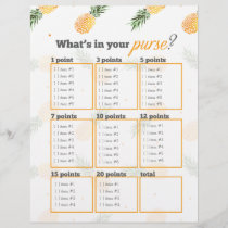 Pineapple What's in your purse? bridal shower game