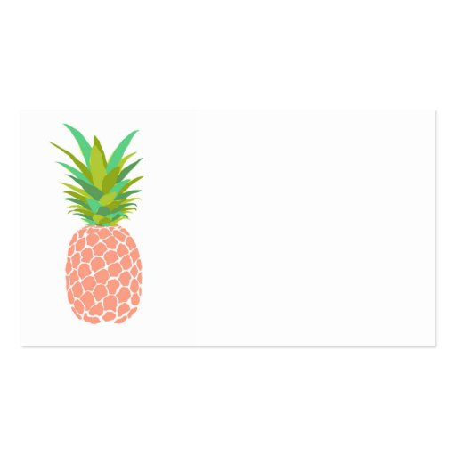 Pineapple White Business Card Zazzle