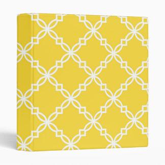 Pineapple White Large Fancy Quatrefoil Pattern Binder