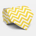 Pineapple White LG Chevron Dk Gray Name Monogram Tie