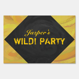 Pineapple Wild Party Yard Sign