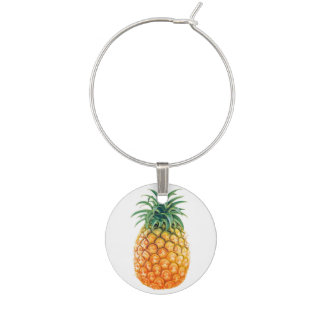 Pineapple Wine Glass Charm