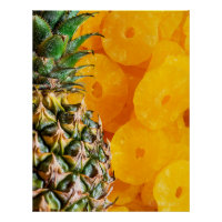 Pineapple with Cut Pineapple Slices, Foodie, ZSSG Poster