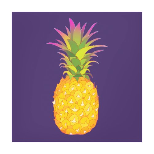 Pineapple Wrapped Canvas - pineapple decor