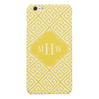 Pineapple Wt Med Greek Key Diag T Yl Name Monogram Glossy iPhone 6 Plus Case