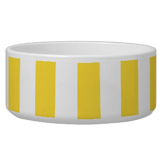 Pineapple Yellow White XL Stripes Pattern Bowl