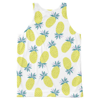 Pineapple Yummy Yellow Summer Fruit All-Over-Print Tank Top