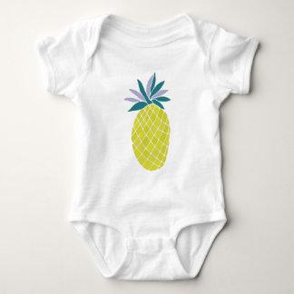 Pineapple Yummy Yellow Summer Fruit Baby Bodysuit
