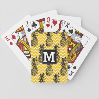 Pineapple Zigzags | Monogram Playing Cards