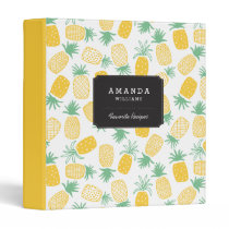 Pineapples 3 Ring Binder