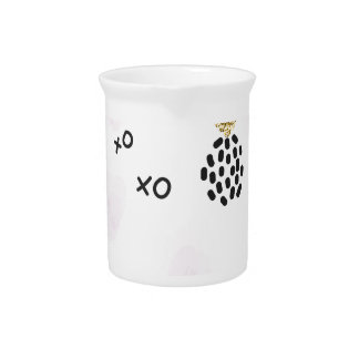 Pineapples and pink leopard print. XOXO Drink Pitcher