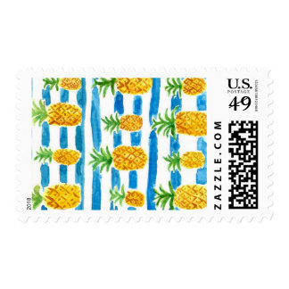 PINEAPPLES AND STRIPES STAMPS