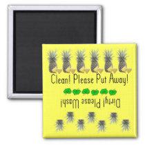 Pineapples dishwasher magnet