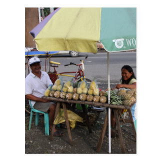 Pineapples for sale postcard