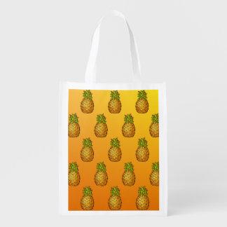 Pineapples Grocery Bag