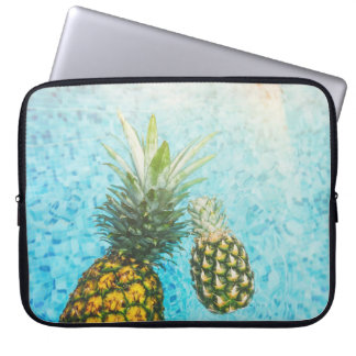Pineapples in Swimming Pool Computer Sleeve