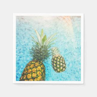 Pineapples in Swimming Pool Paper Napkin