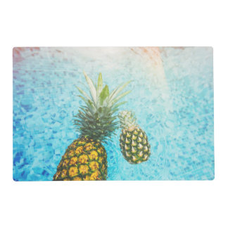 Pineapples in Swimming Pool Placemat
