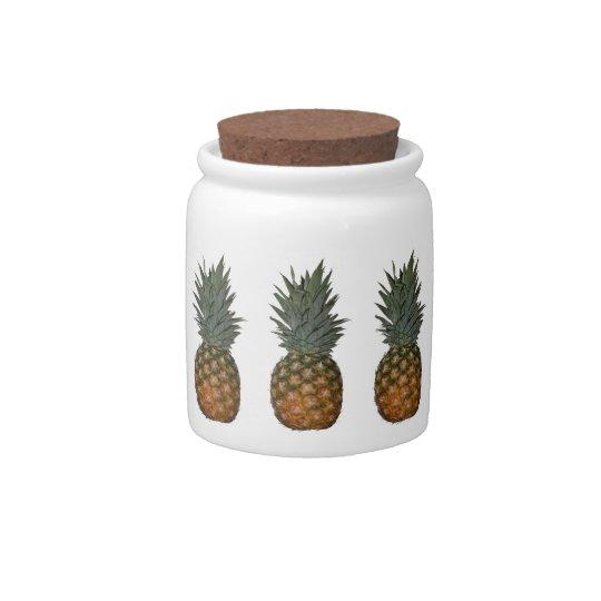 Pineapples Jar Candy Jar