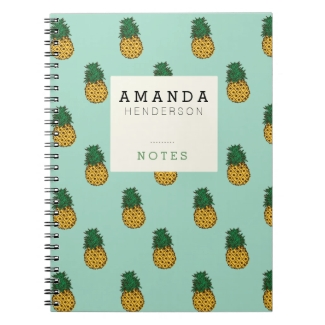 Pineapples & Mint Notebook
