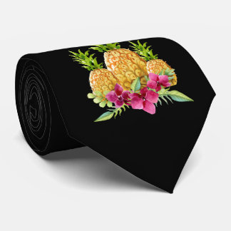Pineapples Orchids Ferns Tropical Wedding Tie