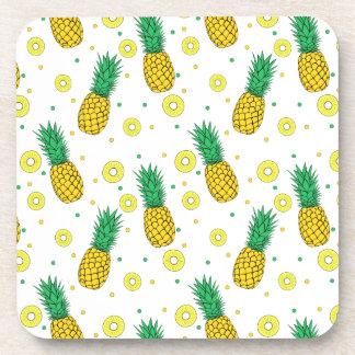 Pineapples pattern beverage coaster