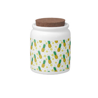 Pineapples pattern candy jars