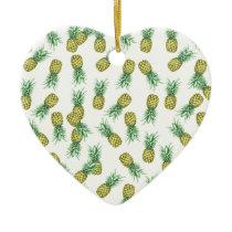 Pineapples pattern ceramic ornament