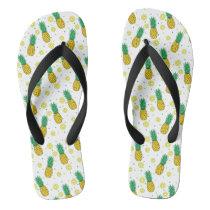 Pineapples pattern flip flops
