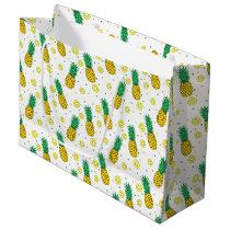 Pineapples pattern large gift bag