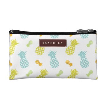 heartlocked Pineapples Pattern Makeup Bag