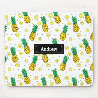 Pineapples pattern mouse pad