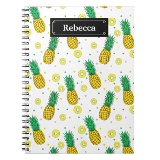 Pineapples pattern notebook