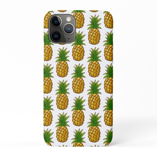 Pineapples Pattern Pineapple Print iPhone 11 Pro Case