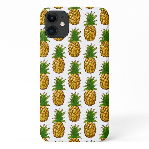 Pineapples Pattern Pineapple Print iPhone 11 Case