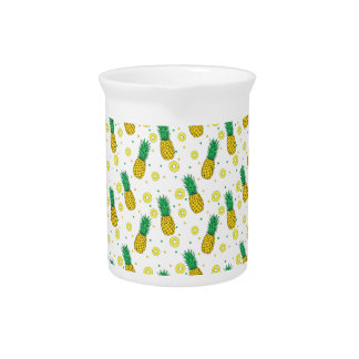 Pineapples pattern pitcher