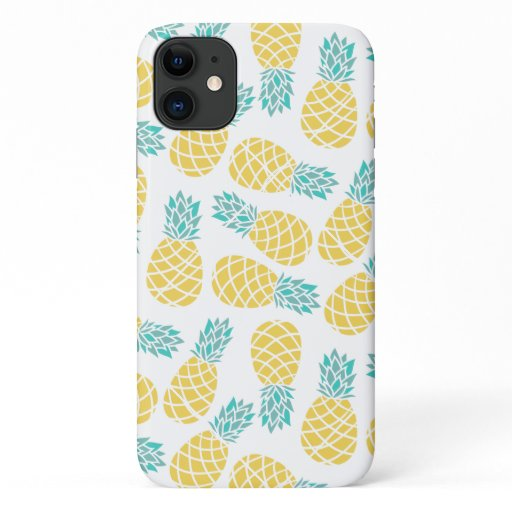 Pineapples Pattern Print iPhone 11 Case