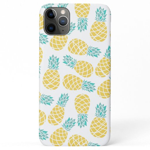 Pineapples Pattern Print iPhone 11 Pro Max Case