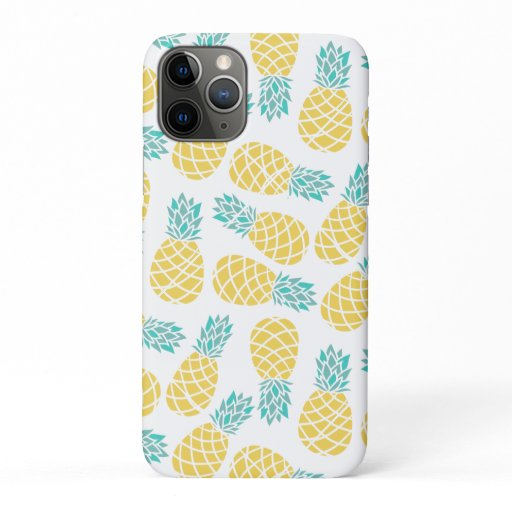 Pineapples Pattern Print iPhone 11 Pro Case