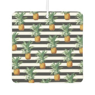 pineapples stripes grey air freshener