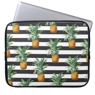 pineapples stripes grey computer sleeve