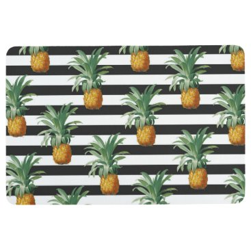 pineapples stripes grey floor mat