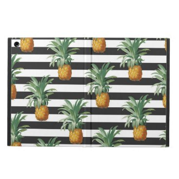 pineapples stripes grey iPad air cover